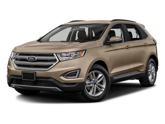 White Gold Metallic 2017 Ford Edge Pictures Edge Utility 4D SEL 2WD V6 photos front view