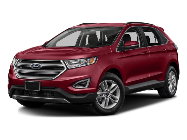 Ruby Red Metallic Tinted Clearcoat 2017 Ford Edge Pictures Edge Utility 4D SEL 2WD V6 photos front view