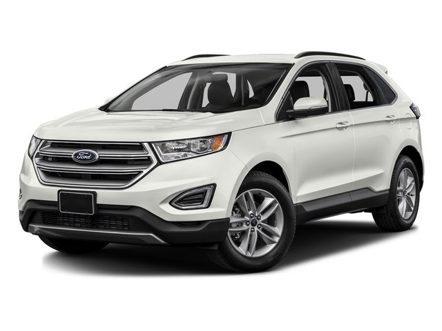 White Platinum Metallic Tri-Coat 2017 Ford Edge Pictures Edge Utility 4D SEL 2WD V6 photos front view