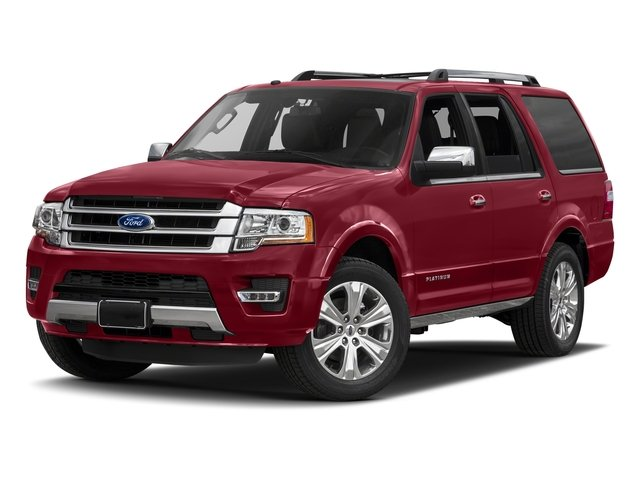 Ruby Red Metallic Tinted Clearcoat 2017 Ford Expedition Pictures Expedition Utility 4D Platinum 2WD V6 Turbo photos front view