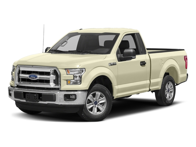 White Gold 2017 Ford F-150 Pictures F-150 Regular Cab XLT 4WD photos front view