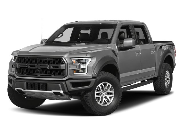 Ingot Silver Metallic 2017 Ford F-150 Pictures F-150 Crew Cab Raptor 4WD photos front view