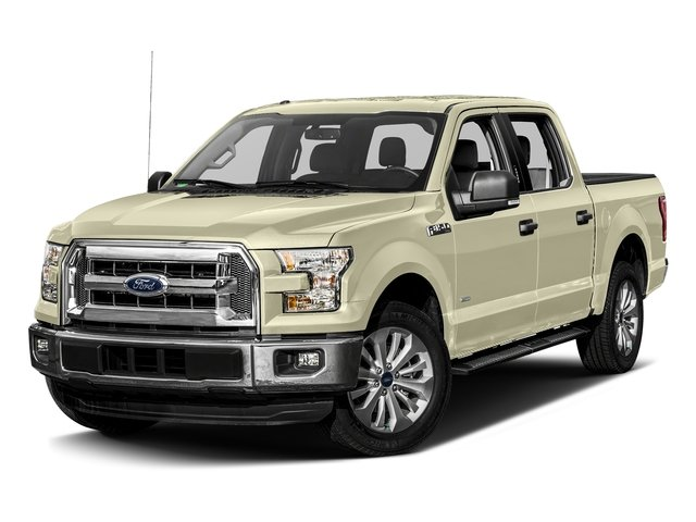 White Gold 2017 Ford F-150 Pictures F-150 Crew Cab XLT 2WD photos front view