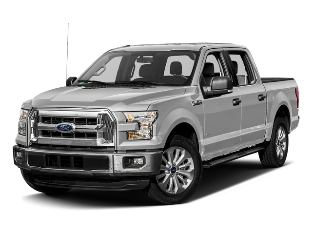 Ingot Silver Metallic 2017 Ford F-150 Pictures F-150 Crew Cab XLT 2WD photos front view