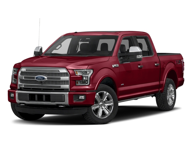 Ruby Red Metallic Tinted Clearcoat 2017 Ford F-150 Pictures F-150 Crew Cab Platinum 2WD photos front view