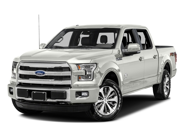 White Platinum Metallic Tri-Coat 2017 Ford F-150 Pictures F-150 Crew Cab King Ranch 4WD photos front view