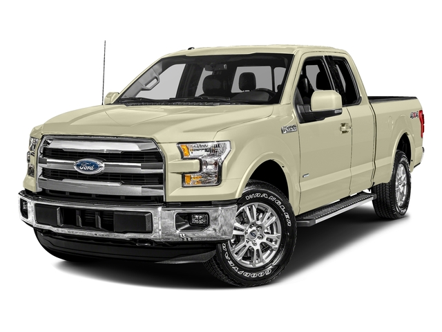 White Gold 2017 Ford F-150 Pictures F-150 Supercab Lariat 2WD photos front view
