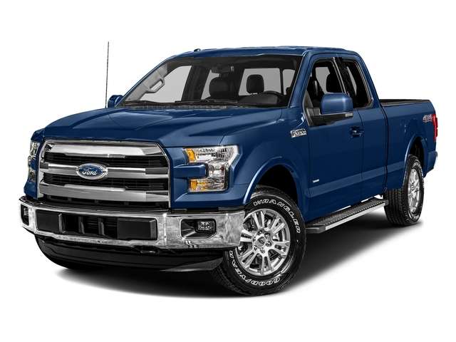 Lightning Blue 2017 Ford F-150 Pictures F-150 Supercab Lariat 2WD photos front view