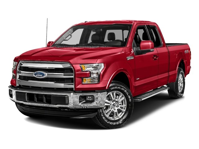 Race Red 2017 Ford F-150 Pictures F-150 Supercab Lariat 2WD photos front view