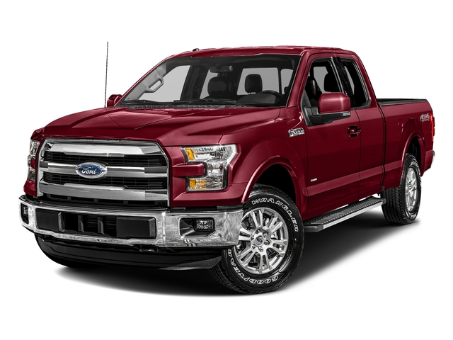 Ruby Red Metallic Tinted Clearcoat 2017 Ford F-150 Pictures F-150 Supercab Lariat 2WD photos front view