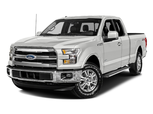 Oxford White 2017 Ford F-150 Pictures F-150 Supercab Lariat 2WD photos front view