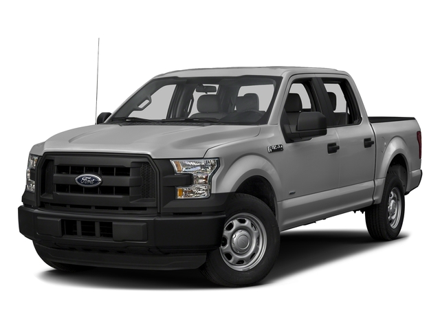 Ingot Silver Metallic 2017 Ford F-150 Pictures F-150 Crew Cab XL 2WD photos front view