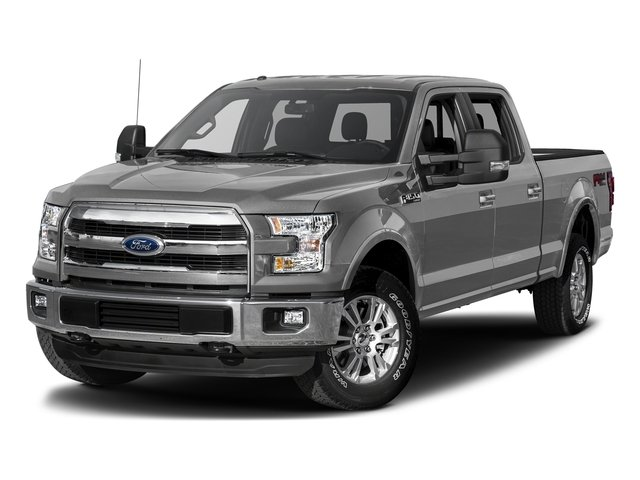 Ingot Silver Metallic 2017 Ford F-150 Pictures F-150 Crew Cab Lariat 4WD photos front view