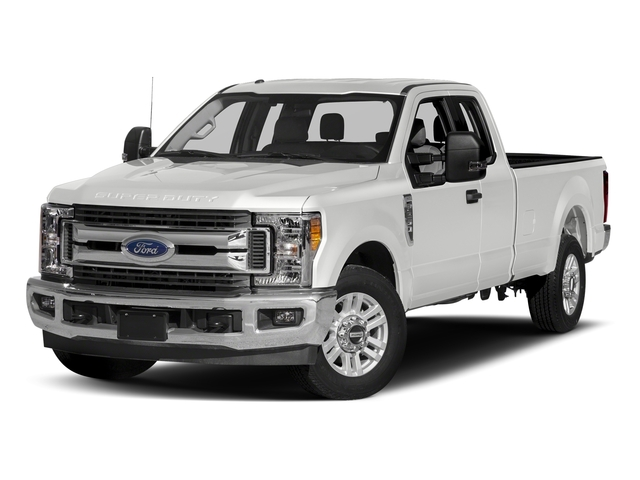 Oxford White 2017 Ford Super Duty F-250 SRW Pictures Super Duty F-250 SRW Supercab XLT 2WD photos front view