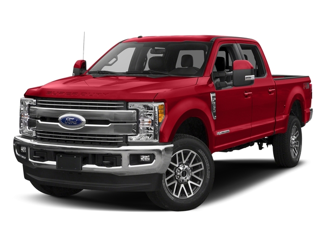 Race Red 2017 Ford Super Duty F-250 SRW Pictures Super Duty F-250 SRW Crew Cab Lariat 4WD photos front view