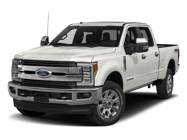 White Platinum Metallic Tri-Coat 2017 Ford Super Duty F-250 SRW Pictures Super Duty F-250 SRW Crew Cab King Ranch 4WD photos front view