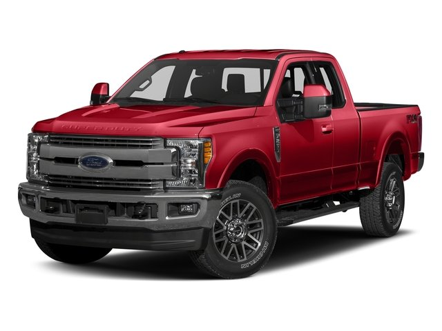 Race Red 2017 Ford Super Duty F-350 SRW Pictures Super Duty F-350 SRW Supercab Lariat 2WD photos front view