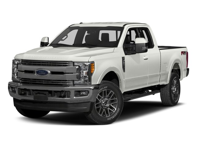 White Platinum Metallic Tri-Coat 2017 Ford Super Duty F-250 SRW Pictures Super Duty F-250 SRW Supercab Lariat 4WD photos front view