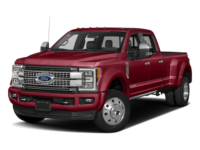 Ruby Red Metallic Tinted Clearcoat 2017 Ford Super Duty F-450 DRW Pictures Super Duty F-450 DRW Crew Cab Platinum 4WD T-Diesel photos front view