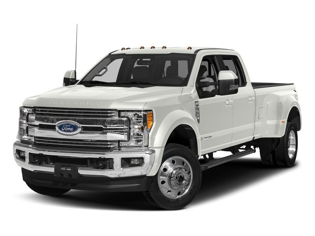 White Platinum Metallic Tri-Coat 2017 Ford Super Duty F-450 DRW Pictures Super Duty F-450 DRW Crew Cab Lariat 4WD T-Diesel photos front view