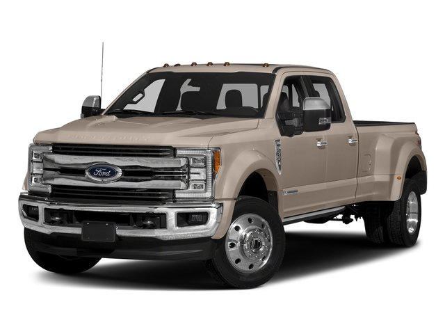 White Gold Metallic 2017 Ford Super Duty F-450 DRW Pictures Super Duty F-450 DRW Crew Cab King Ranch 4WD T-Diesel photos front view