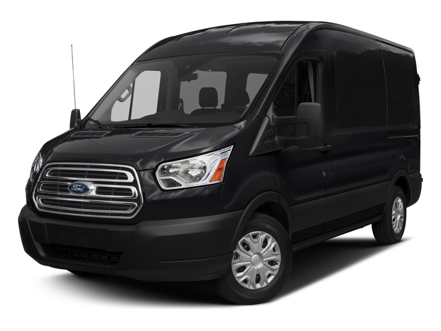 Shadow Black 2017 Ford Transit Wagon Pictures Transit Wagon Passenger Van XLT Medium Roof photos front view