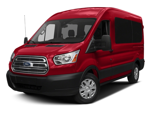 Race Red 2017 Ford Transit Wagon Pictures Transit Wagon Passenger Van XLT Medium Roof photos front view