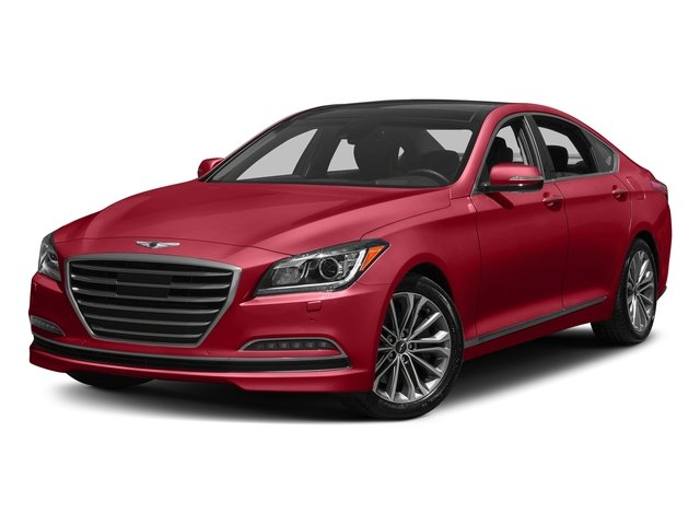 Sevilla Red 2017 Genesis G80 Pictures G80 3.8L AWD photos front view