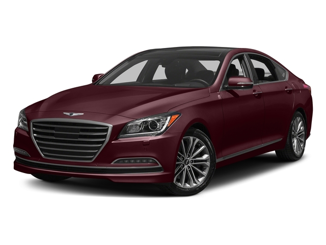 Pamplona Red 2017 Genesis G80 Pictures G80 3.8L AWD photos front view