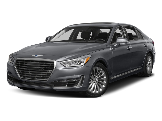 London Gray Metallic 2017 Genesis G90 Pictures G90 5.0L Ultimate RWD photos front view