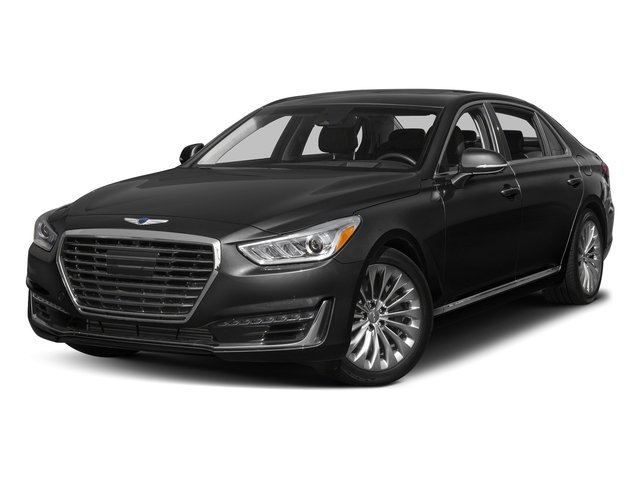 Caspian Black 2017 Genesis G90 Pictures G90 5.0L Ultimate RWD photos front view