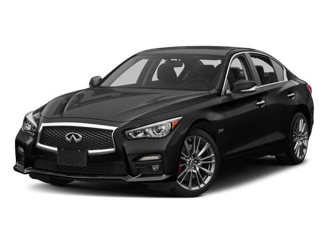 Black Obsidian 2017 INFINITI Q50 Pictures Q50 3.0t Sport AWD photos front view