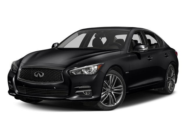 Midnight Black 2017 INFINITI Q50 Hybrid Pictures Q50 Hybrid Sedan 4D AWD V6 Hybrid photos front view
