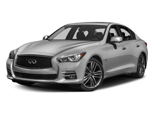 Liquid Platinum 2017 INFINITI Q50 Hybrid Pictures Q50 Hybrid Sedan 4D AWD V6 Hybrid photos front view