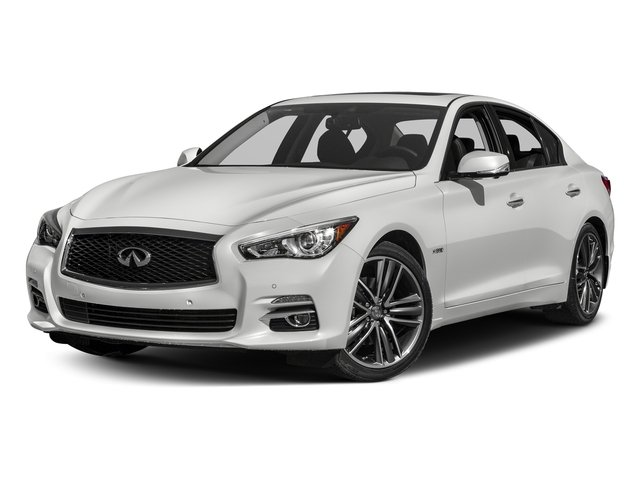 Pure White 2017 INFINITI Q50 Hybrid Pictures Q50 Hybrid Sedan 4D AWD V6 Hybrid photos front view