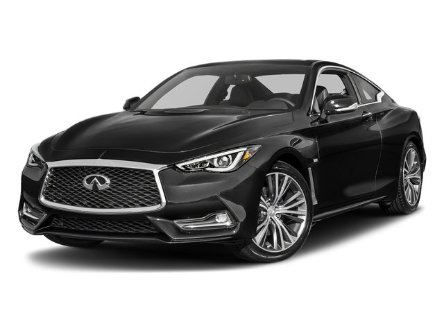 Black Obsidian 2017 INFINITI Q60 Pictures Q60 Coupe 2D 2.0T Premium AWD photos front view