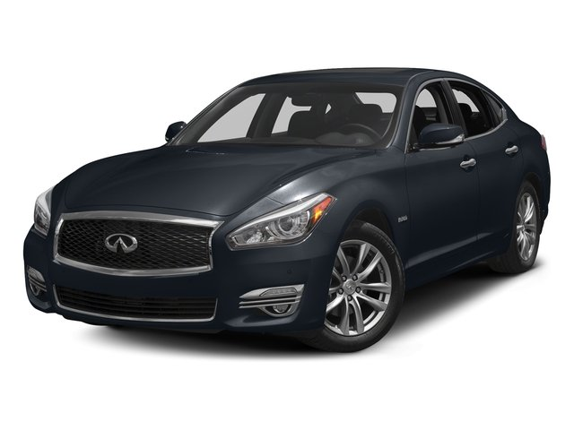 Hermosa Blue 2017 INFINITI Q70 Hybrid Pictures Q70 Hybrid RWD photos front view