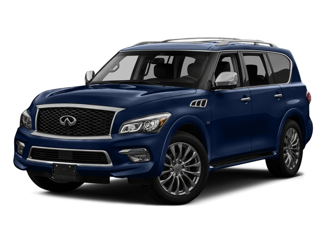 Hermosa Blue 2017 INFINITI QX80 Pictures QX80 Utility 4D Signature 2WD V8 photos front view