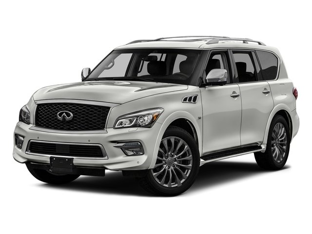 Majestic White 2017 INFINITI QX80 Pictures QX80 Utility 4D Signature 2WD V8 photos front view