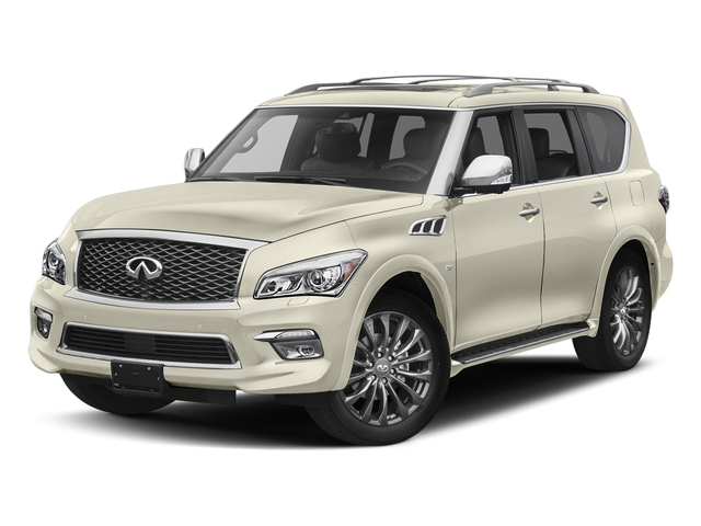 Majestic White 2017 INFINITI QX80 Pictures QX80 Utility 4D Limited AWD V8 photos front view