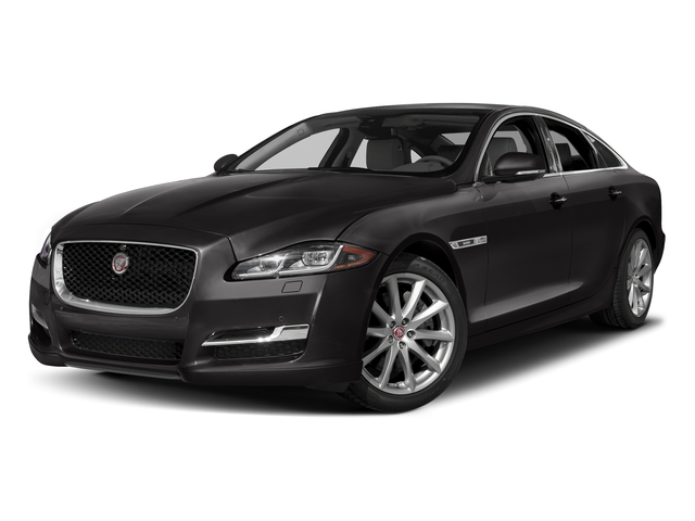 Ultimate Black Metallic 2017 Jaguar XJ Pictures XJ Sedan 4D R-Sport AWD V6 Supercharged photos front view