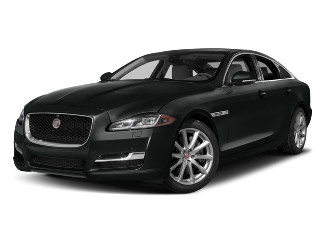 Cosmic Black 2017 Jaguar XJ Pictures XJ Sedan 4D R-Sport AWD V6 Supercharged photos front view