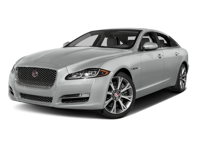 Rhodium Silver Metallic 2017 Jaguar XJ Pictures XJ XJL Supercharged RWD photos front view