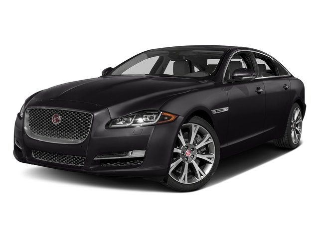 Ultimate Black Metallic 2017 Jaguar XJ Pictures XJ XJL Supercharged RWD photos front view