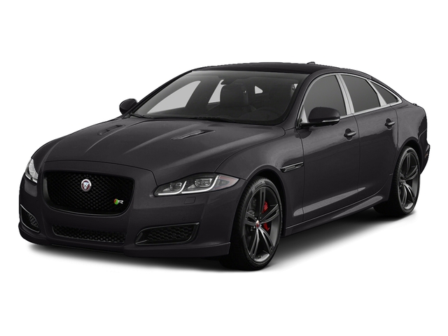 Ultimate Black Metallic 2017 Jaguar XJ Pictures XJ Sedan 4D XJR V8 Supercharged photos front view