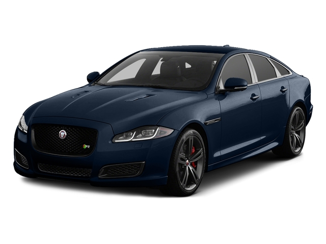 Dark Sapphire Metallic 2017 Jaguar XJ Pictures XJ Sedan 4D XJR V8 Supercharged photos front view
