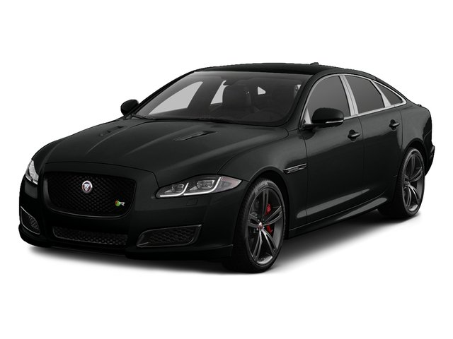 Cosmic Black 2017 Jaguar XJ Pictures XJ Sedan 4D XJR V8 Supercharged photos front view