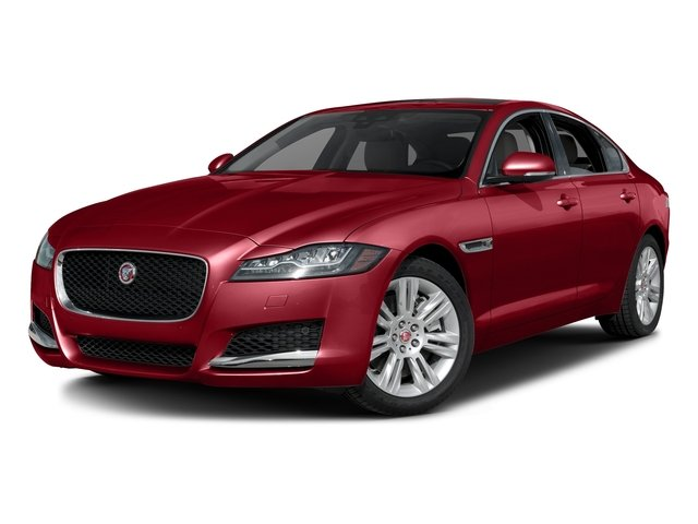 Italian Racing Red Metallic 2017 Jaguar XF Pictures XF Sedan 4D 35t Premium AWD V6 Sprchrd photos front view