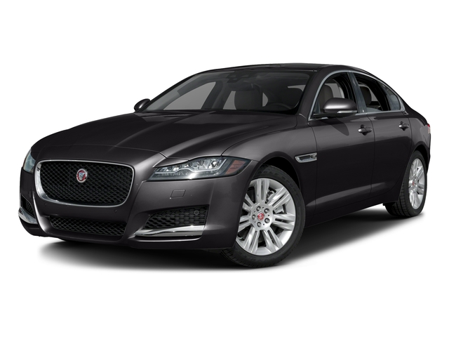 Ultimate Black Metallic 2017 Jaguar XF Pictures XF Sedan 4D 35t Premium AWD V6 Sprchrd photos front view