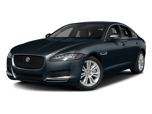 Dark Sapphire Metallic 2017 Jaguar XF Pictures XF 35t Premium RWD photos front view